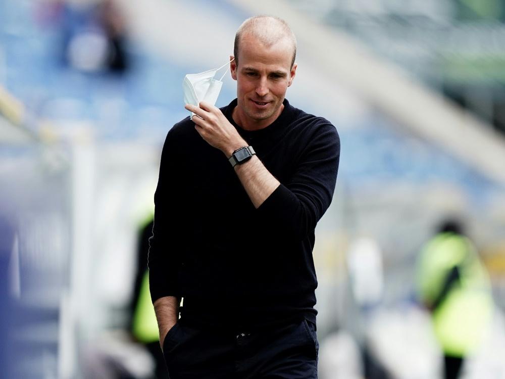 Sebastian Hoeneß fehlen coronabedingt zwei Spieler. ©FIRO/SID