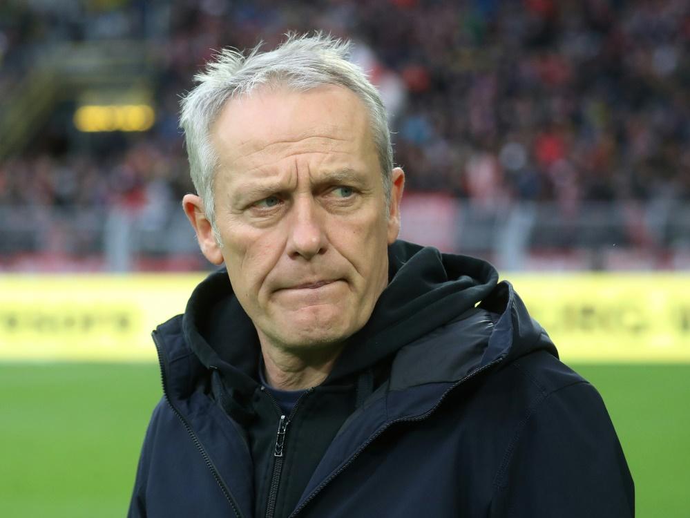Streich ist in der Bundesliga gegen den BVB noch sieglos. ©FIRO/SID