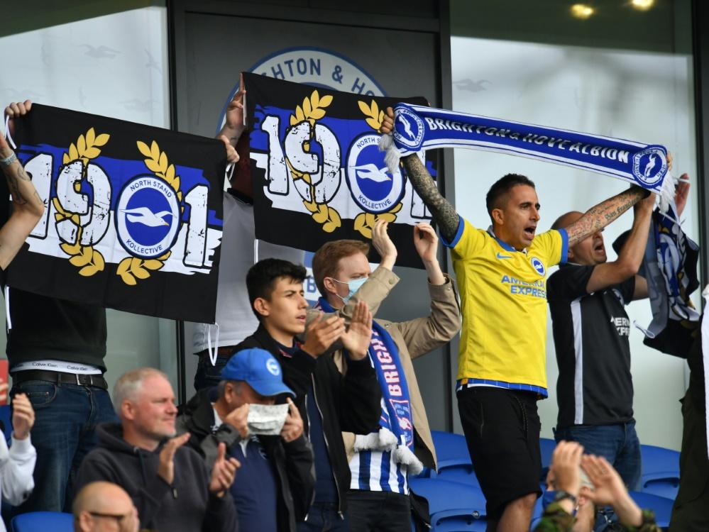 Für Fans in den Stadien wirbt die Petition aus England. ©SID GLYN KIRK