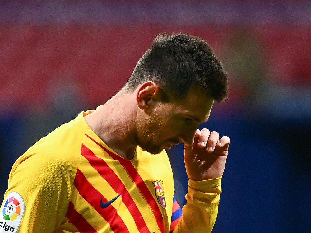 Barcelona hofft auf Gehaltsverzicht von Messi und Co.. ©SID GABRIEL BOUYS