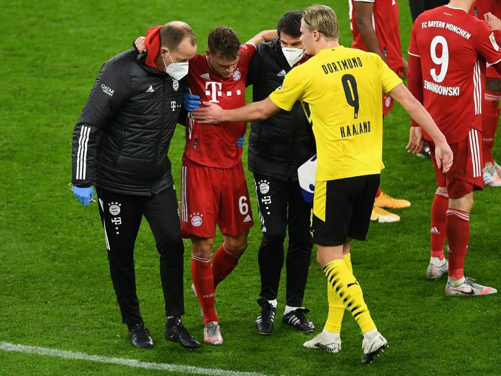 Kimmich hatte sich im Spiel gegen Dortmund verletzt. ©FIRO/SID