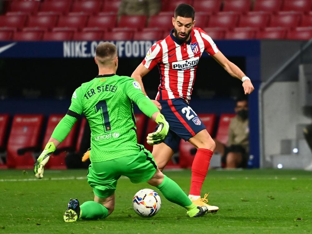 Marc-Andre ter Stegen verlor mit Barca bei Atletico. ©SID GABRIEL BOUYS
