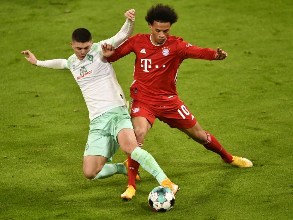 Bayern nur Unentschieden gegen Werder. ©SID LUKAS BARTH