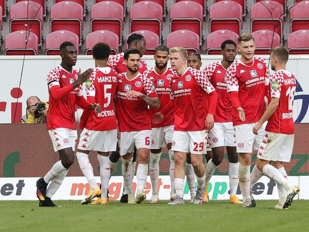 Mainz 05 holt zu Hause ein 1:1 gegen Hoffenheim. ©FIRO/SID