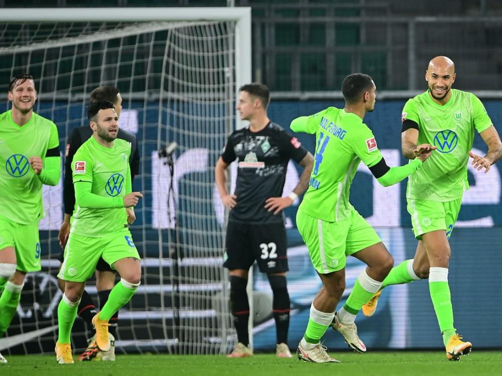 Wolfsburg und Werder boten ein wahres Offensivspektakel. ©FIRO/SID a