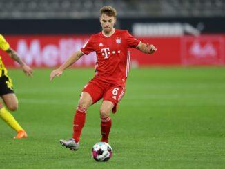 FC Bayern: Joshua Kimmich hat sich am Knie verletzt. ©FIRO/SID