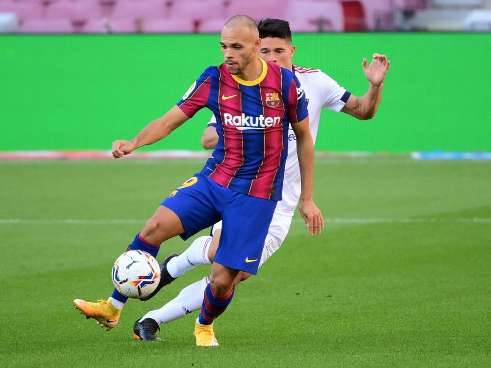 Martin Braithwaite brachte Barcelona in Führung. ©SID LLUIS GENE