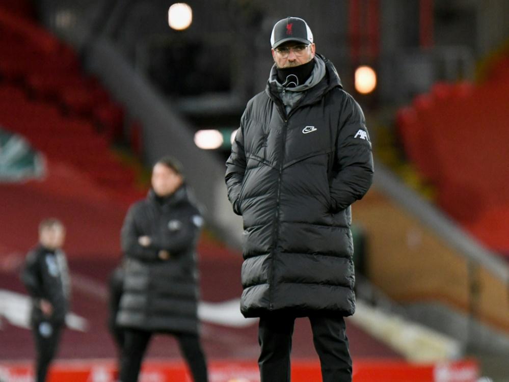 Jürgen Klopp ist unzufrieden nach Patzer gegen West Brom. ©FIRO/SID Malcolm Bryce