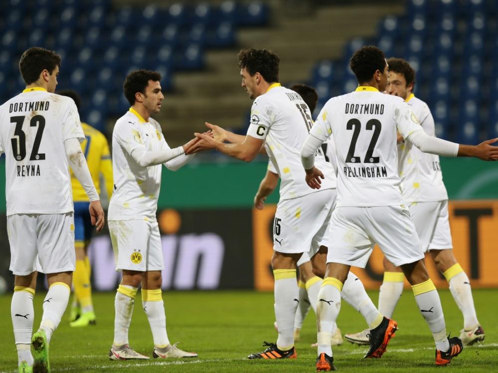 Glanzlos im Achtelfinale: Borussia Dortmund. ©FIRO/SID
