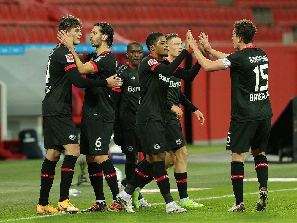 Leverkusen überwintert auf Rang 2 der Bundesliga. ©FIRO/SID