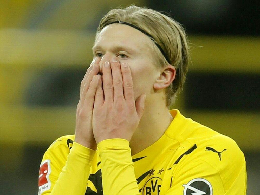 Torjäger Erling Haaland fällt vorerst aus . ©SID LEON KUEGELER
