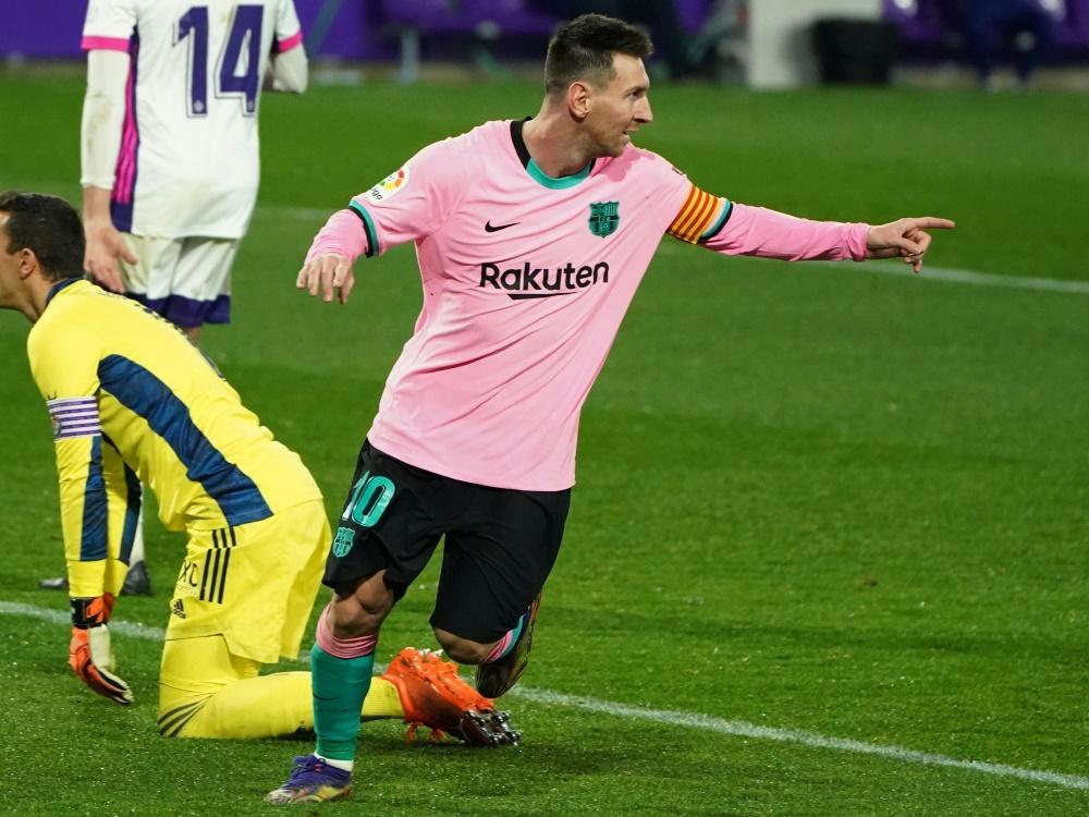 Messi erzielte sein 644. Tor für Barca. ©SID CESAR MANSO