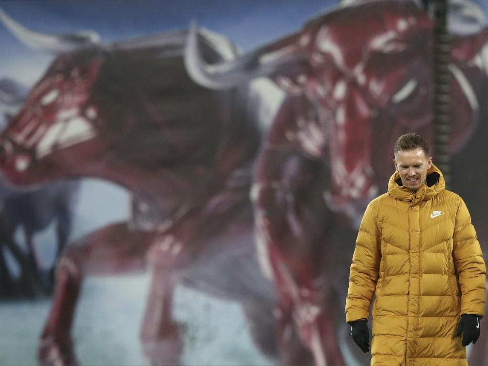 """Nagelsmann sieht sich noch nicht """"im obersten Regal"""". ©POOL/SID RONNY HARTMANN"""