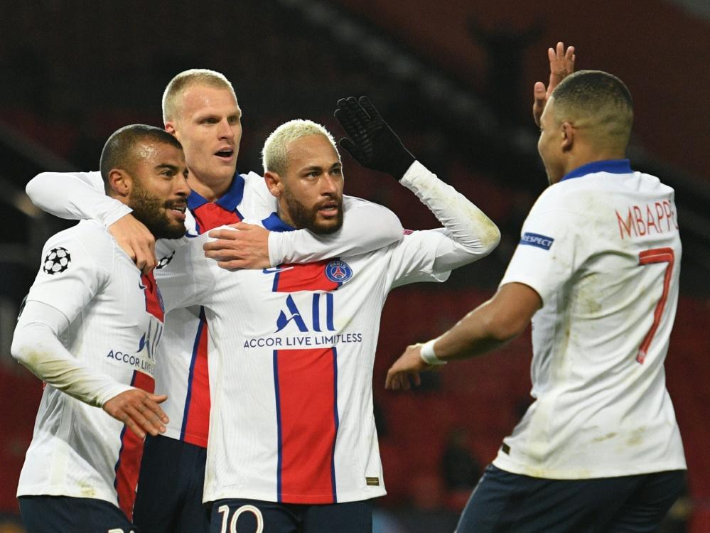 Neymar und Paris gewinnen mit 3:1 im Old Trafford. ©SID OLI SCARFF