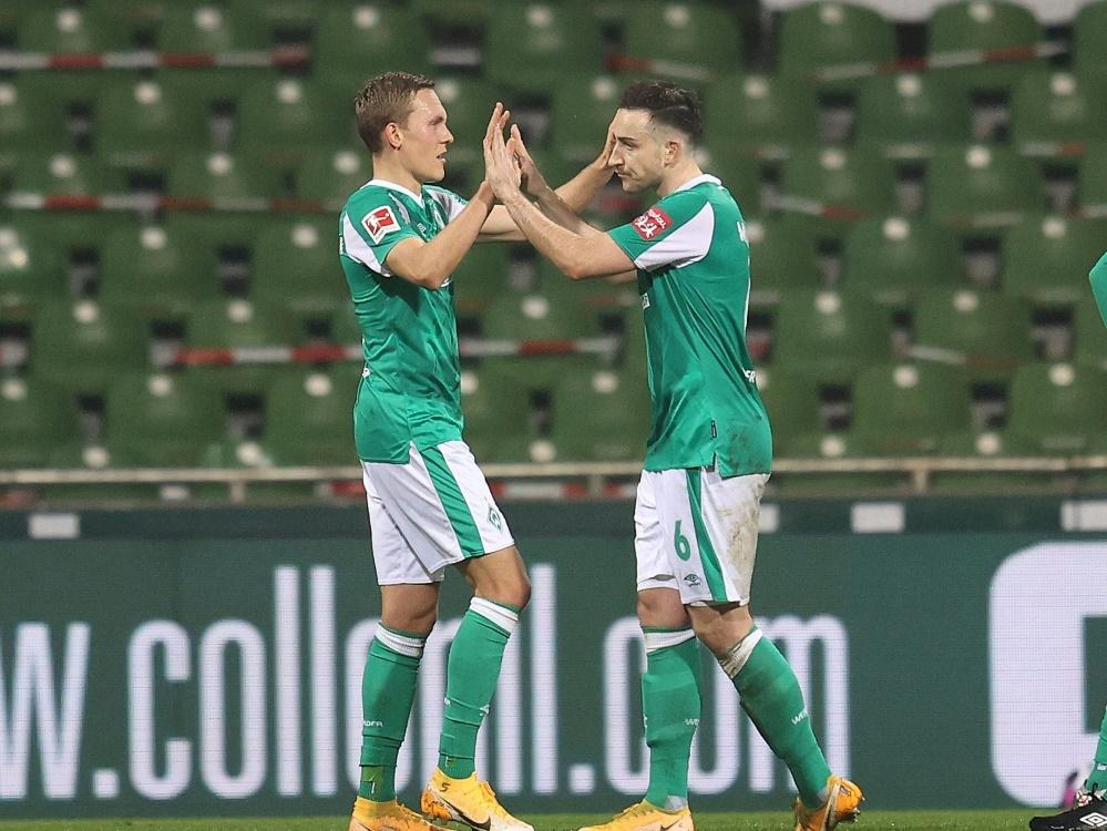 Werder Bremen gewinnt gegen Hannover 96. ©FIRO/SID