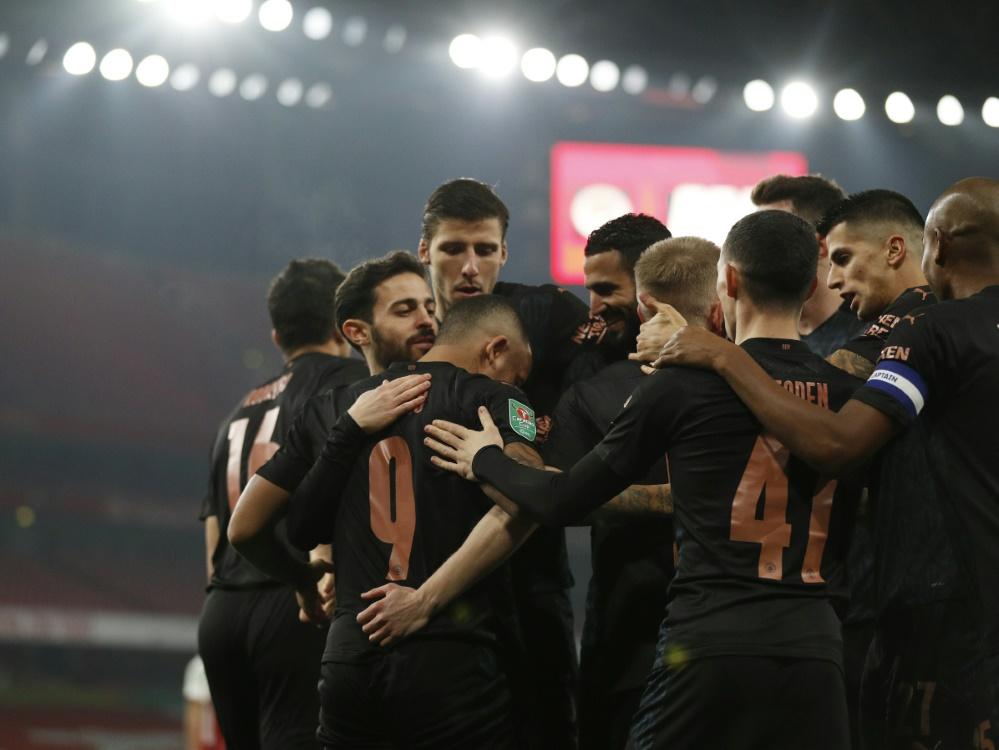 Manchester City gewinnt bei Arsenal 4:1. ©SID ADRIAN DENNIS