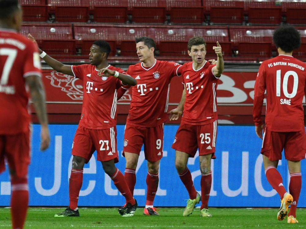 Bayern gewinnt durch ein spätes Tor in Leverkusen. ©SID BERND THISSEN