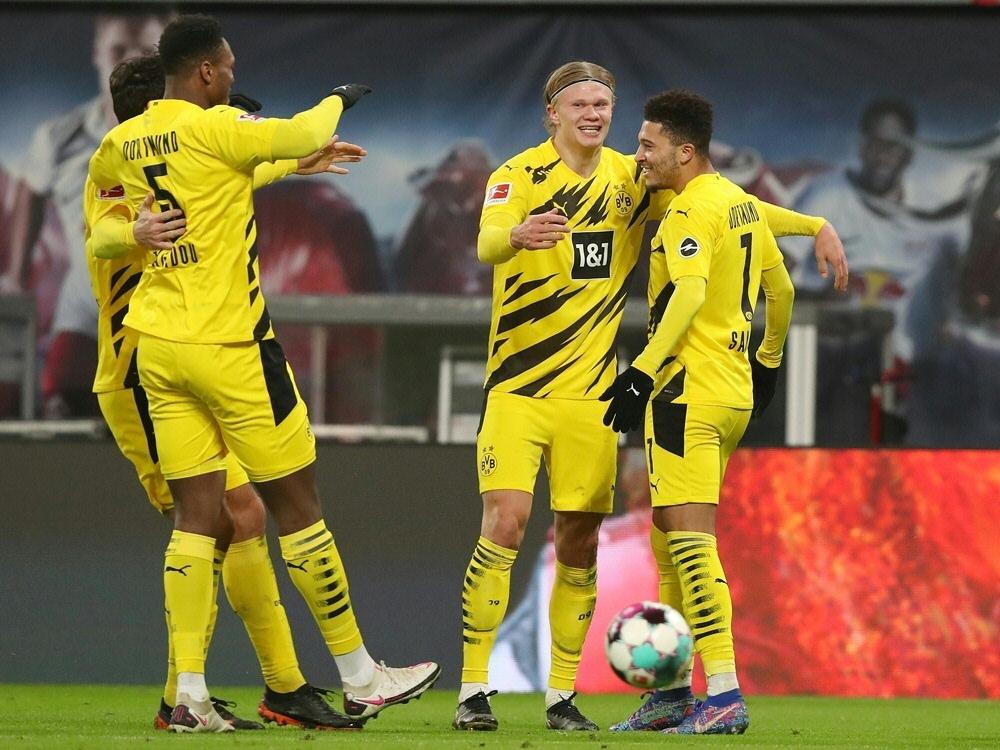 Haaland trifft doppelt - BVB gewinnt gegen Leipzig. ©FIRO/SID