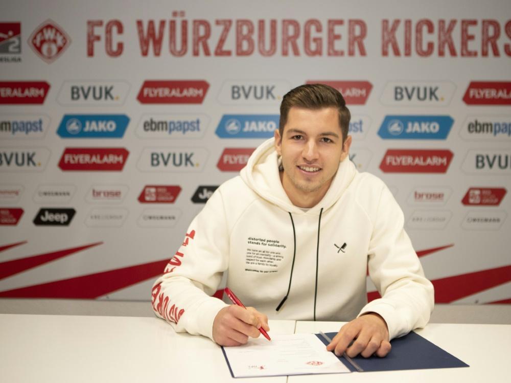 Soll die Offensive der Kickers beleben: Marvin Pieringer. ©FWK / Silvia Gralla/FWK / Silvia Gralla