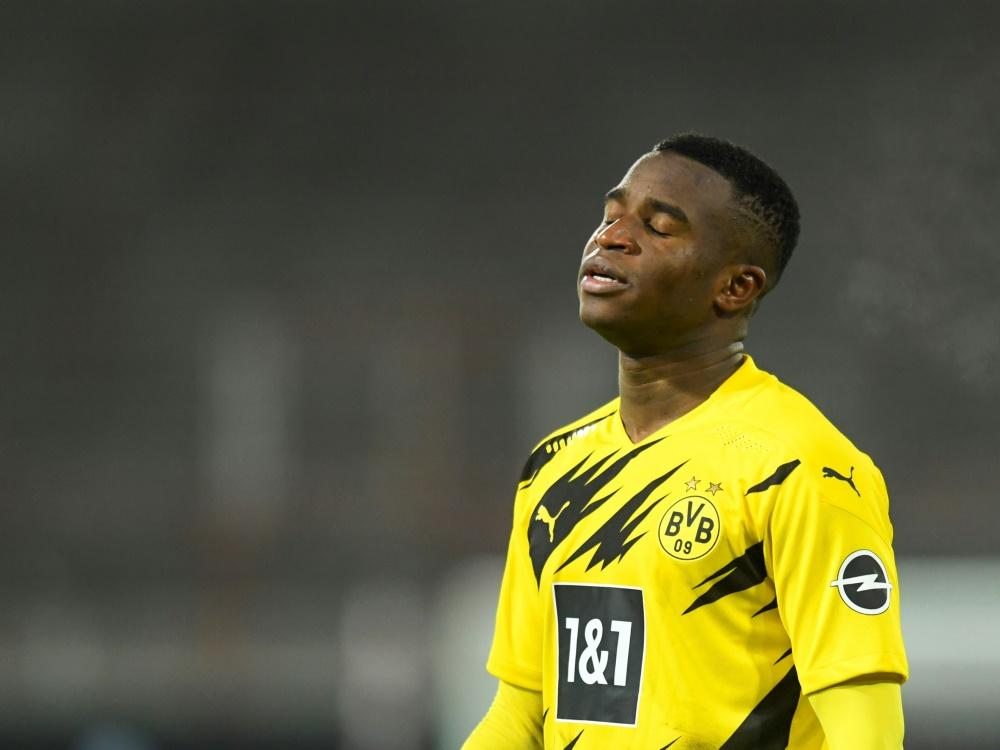 Youssoufa Moukoko fällt gegen den VfL Wolfsburg aus. ©SID ANNEGRET HILSE