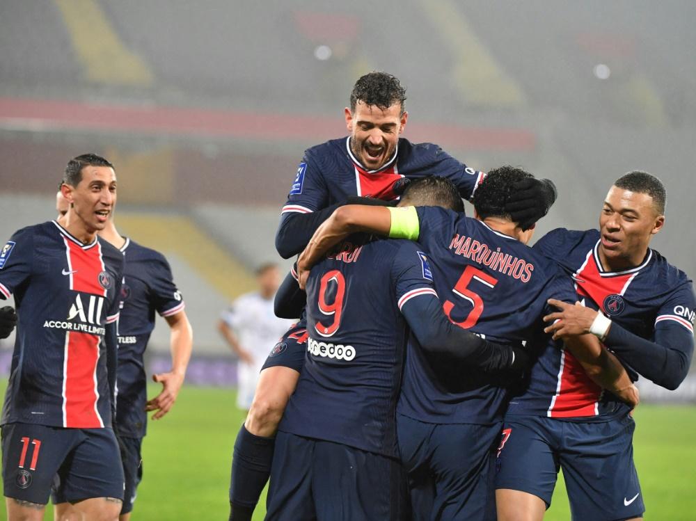 Paris St. Germain gewinnt Supercup gegen Marseille. ©SID DENIS CHARLET