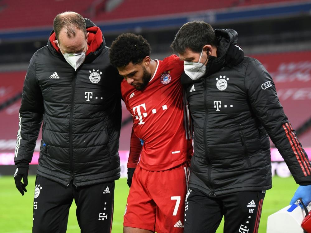 Serge Gnabry fehlt verletzungsbedingt gegen Gladbach. ©POOL/AFP Andreas GEBERT