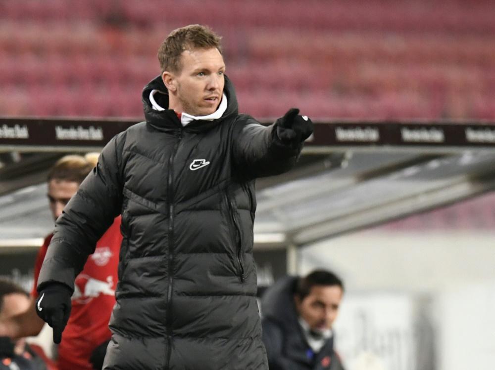 Leipzig-Trainer Julian Nagelsmann. ©SID THOMAS KIENZLE