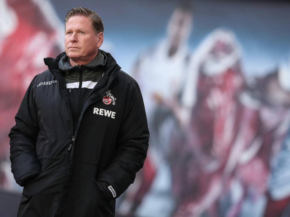 Kölns in Kritik geratener Trainer Markus Gisdol. ©SID RONNY HARTMANN