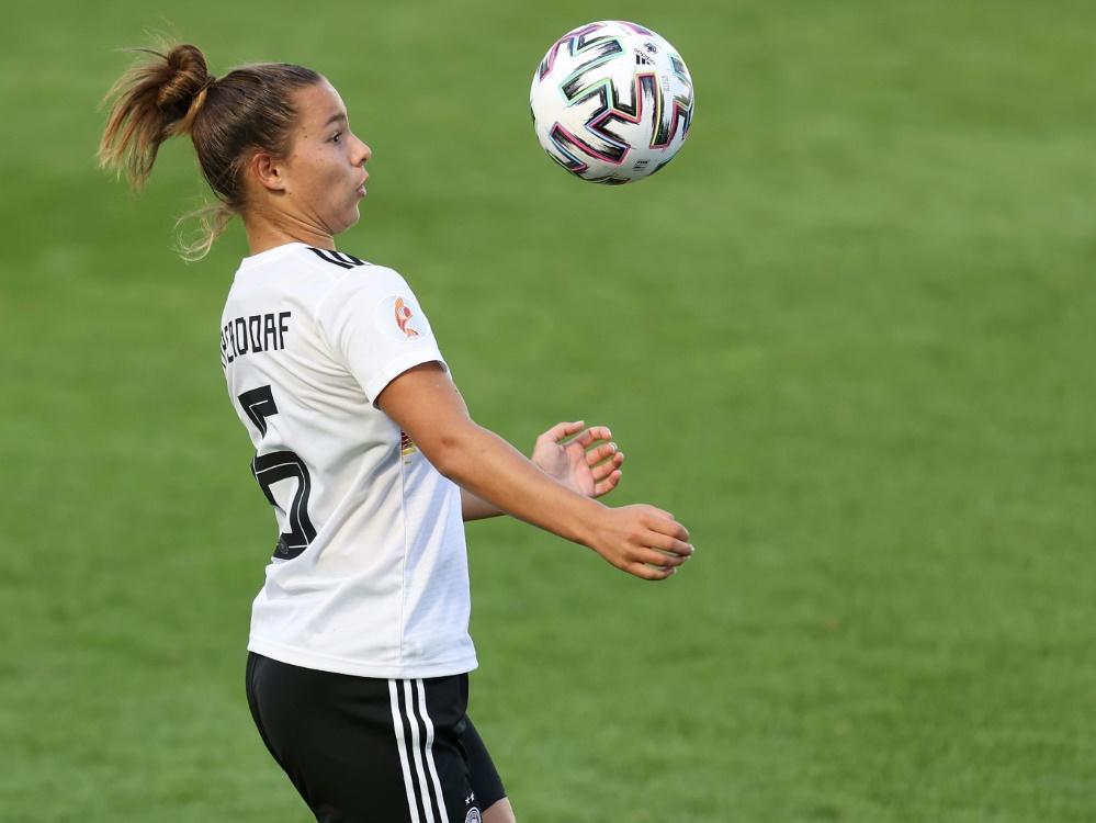 Lena Oberdorf ist Nationalspielerin des Jahres 2020. ©FIRO/SID
