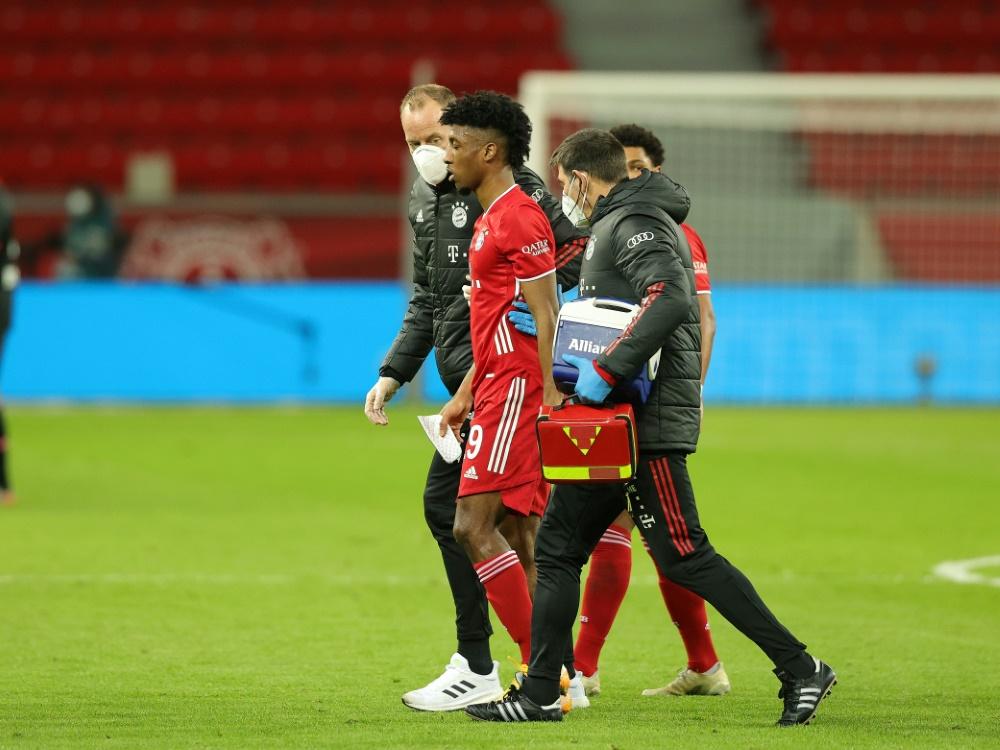 Coman wurde gegen Leverkusen verletzt ausgewechselt. ©FIRO/SID