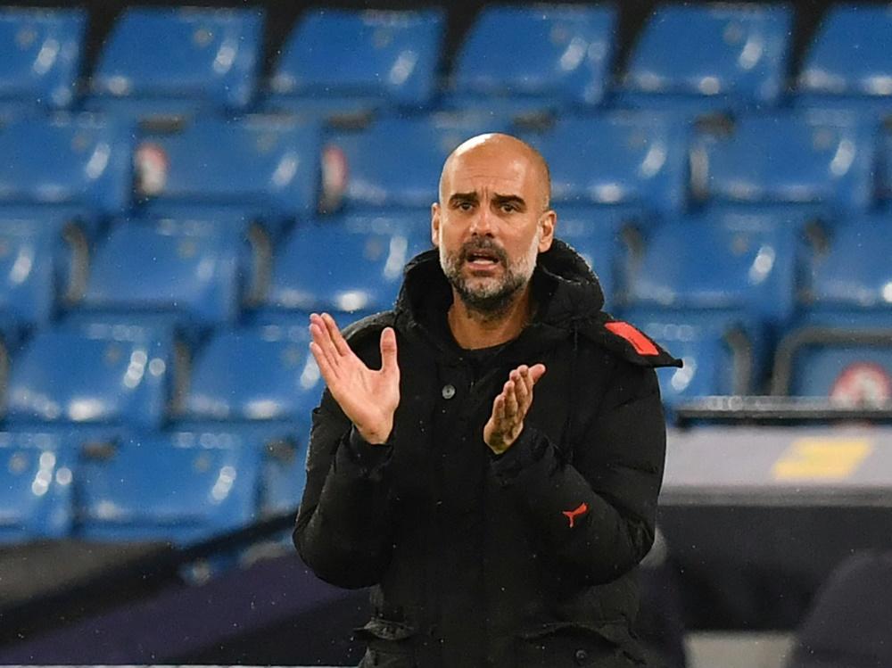 Pep Guardiola steht mit Manchester City im Pokalfinale. ©SID PAUL ELLIS