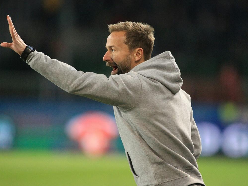 Michael Schiele hat mit Sandhausen drei Punkte geholt. ©FIRO/SID firo Sportphoto/ Jan Fromme