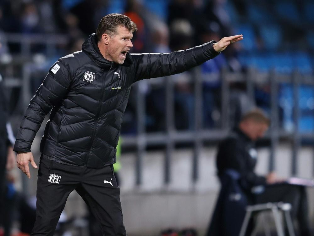 Coach Marco Grote und Osnabrück verlieren auch gegen Aue. ©FIRO/SID