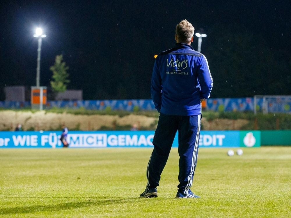Spiel von Saarbrücken gegen Zwickau muss ausfallen. ©FIRO/SID