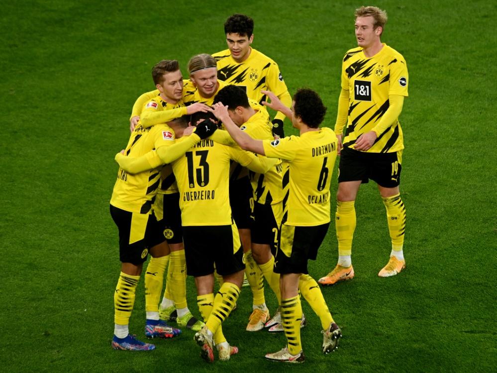 Borussia Dortmund gewinnt 3:1 gegen Augsburg. ©SID SASCHA STEINBACH