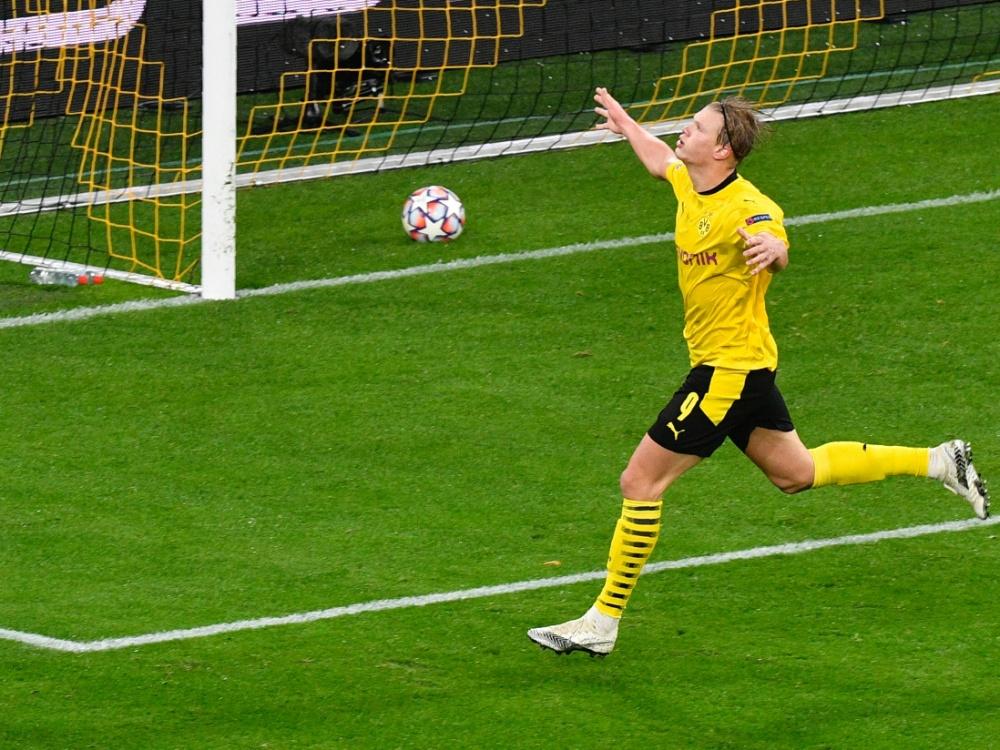 Haaland soll nach dem Willen von Watzke beim BVB bleiben. ©POOL/SID MARTIN MEISSNER
