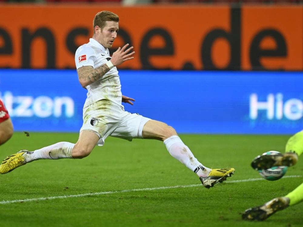 Andre Hahn beschert Augsburg den Sieg. ©SID CHRISTOF STACHE