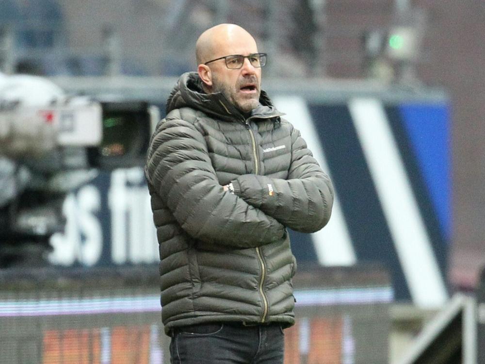Nicht zufrieden mit seiner Mannschaft: Peter Bosz. ©POOL/SID DANIEL ROLAND