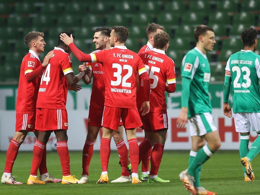 Union Berlin schlägt Werder Bremen mit 2:0. ©FIRO/SID