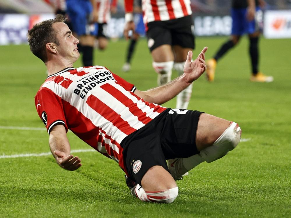 Fehlt PSV für zwei weitere Wochen: Mario Götze. ©SID MAURICE VAN STEEN