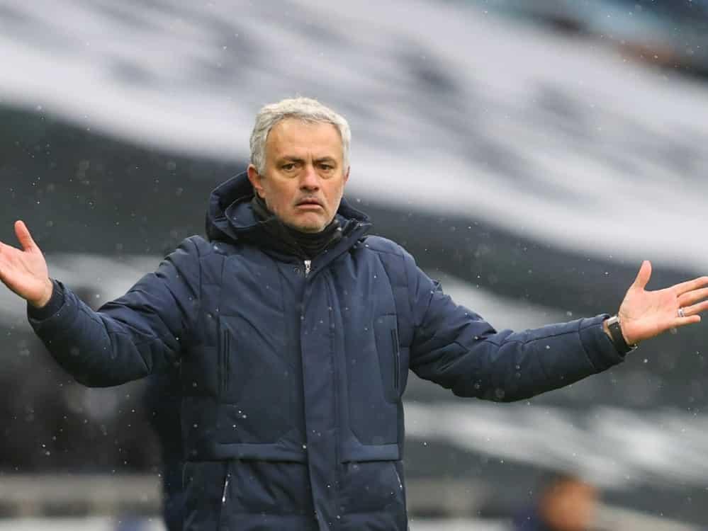Mourinho und Tottenham unterliegen bei West Ham United . ©SID JULIAN FINNEY