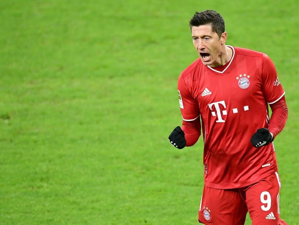 Bayern München präsentiert sich von der besten Seite . ©FIRO/SID