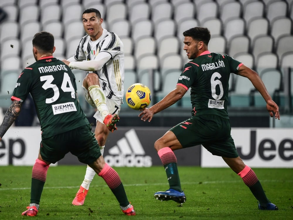 Ronaldo trifft doppelt. ©SID Marco BERTORELLO
