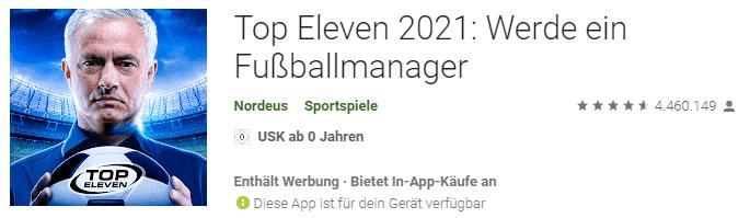 TOP Eleven Fussballmanager 2021