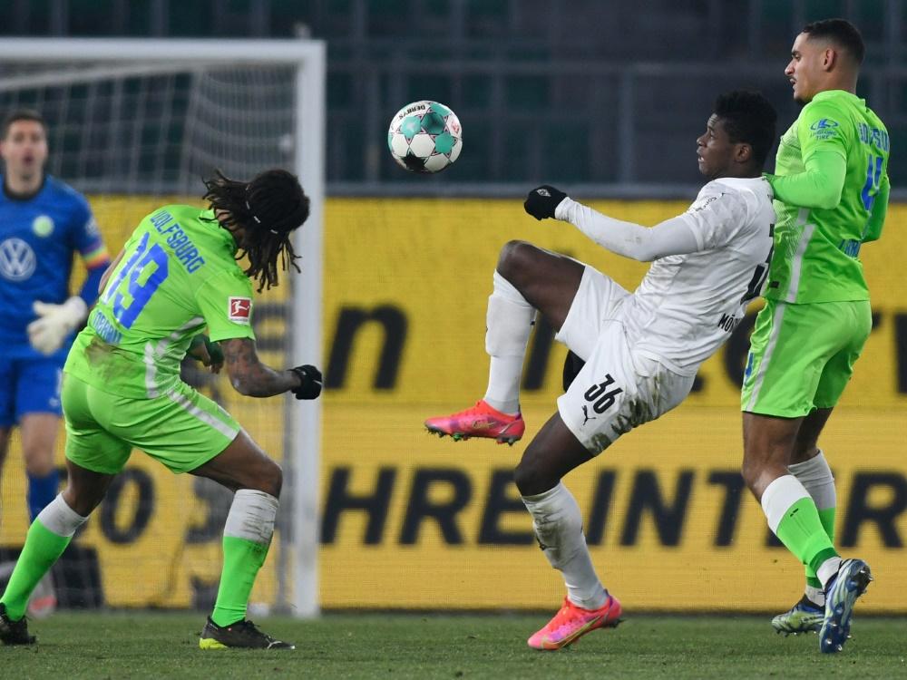 Die Partie Wolfsburg gegen Gladbach geht torlos zu Ende. ©SID FABIAN BIMMER