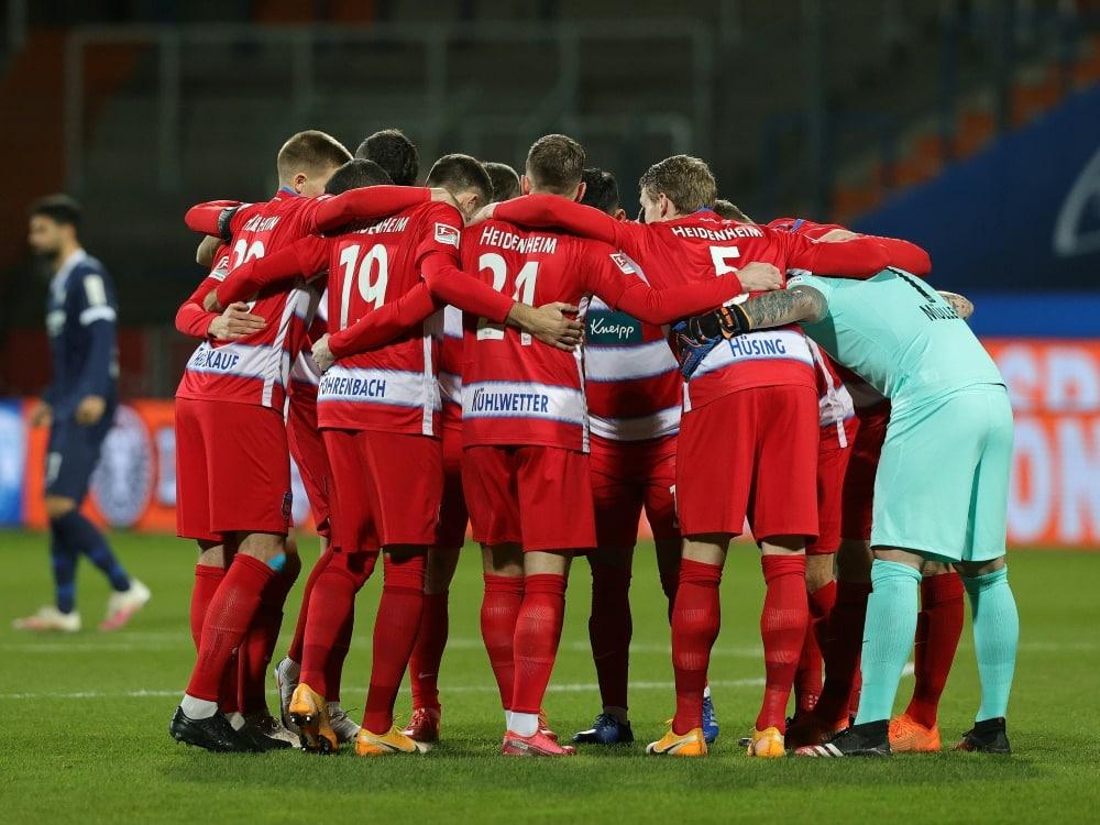 Jubel beim 1. FC Heidenheim. ©FIRO/SID