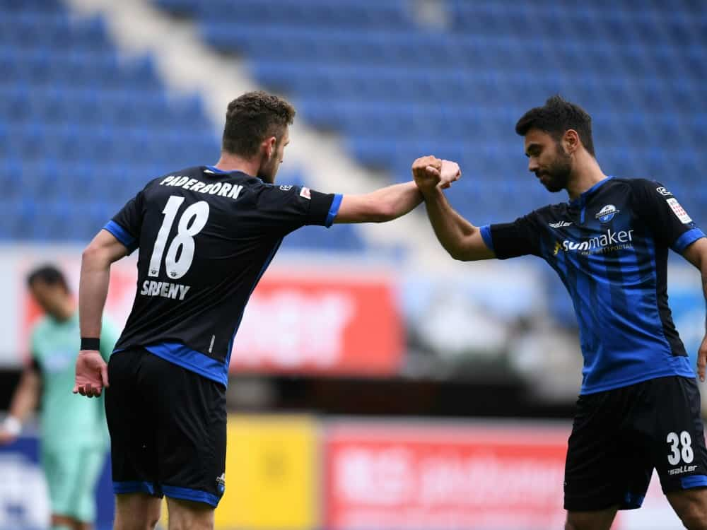 Srbeny erzielt Last-Minute-Ausgleich für Paderborn. ©FIRO/SID