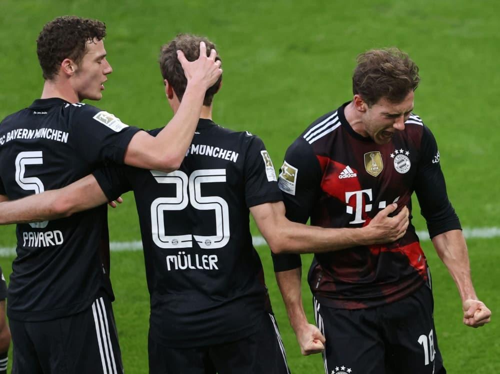 Bayern München gewinnt das Spitzenspiel bei RB Leipzig. ©SID ALEXANDER HASSENSTEIN