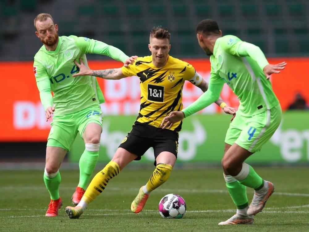 Dortmund kann sich gegen Wolfsburg durchsetzen. ©SID RONNY HARTMANN