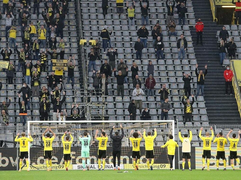 Fanabteilung: Super League mögliche Zerreißprobe für BVB. ©FIRO/SID